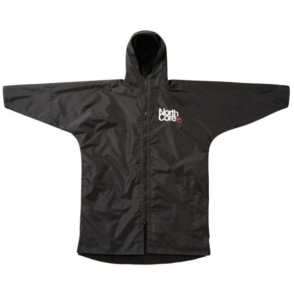 northcore beach basha pro 4 season drying changing robe black