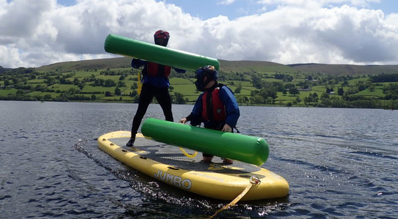 Pugil SUP on Bala Lake, North Wales