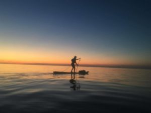 the dawn Non Stop SUP Circumnavigation of the Isle of Anglesey