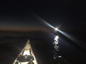 night paddling Nonstop circumnavigation isle of Anglesey
