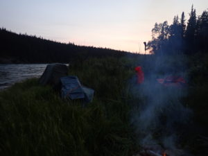 First Night campsite Yukon 1000