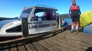 Lake Hauroko water taxi